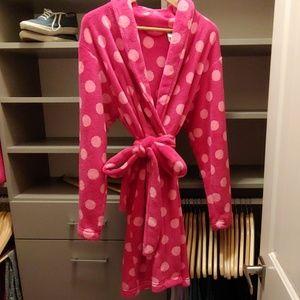 Pink Polka Dot Robe